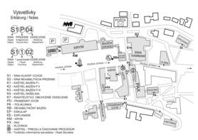 Mapa Kúpeľov Trenčianske Teplice pre pacientov