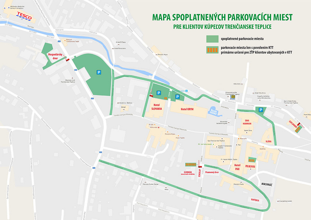 Карта парковочных мест для гостей