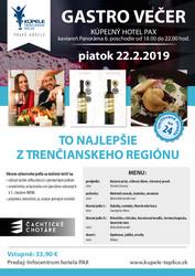 Gastro večer Trenčianske Teplice 2019