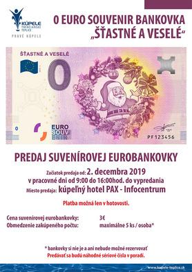 """Predaj 0 eurobankovky """"Šťastné a veselé"""" od 02.12.2019 do vypredania"""