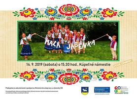 Vystúpenie detského folklórneho súboru Malá Jasénka