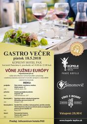 Gastro večer Trenčianske Teplice 2018