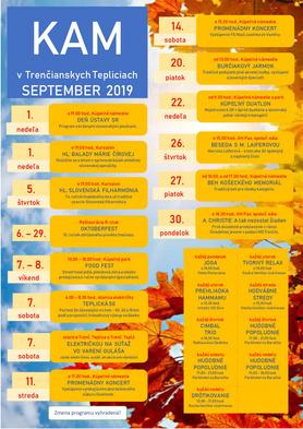KAM v Trenčianskych Tepliciach - podujatia na september 2019