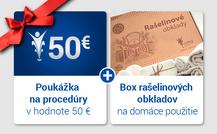 Darčeková poukážka v hodnote 50 € a rašelinový obklad