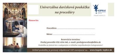 Univerzálna darčeková poukážka na procedúry