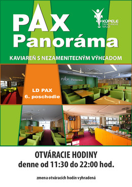 Kaviareň Panorama - otváracie hodiny