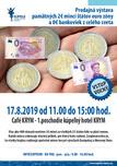 Predajná výstava pamätných 2€ mincí a 0€ bankoviek