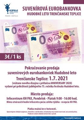 Predaj suvenírovej eurobankovky Festival Hudobné leto od 01.07.2021