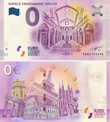 nulová eurobankovka Hammam