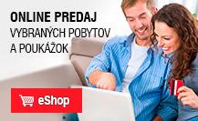 Online predaj kúpeľných pobytov a poukážok