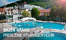 Bazén Grand - predĺženie otváracích hodín