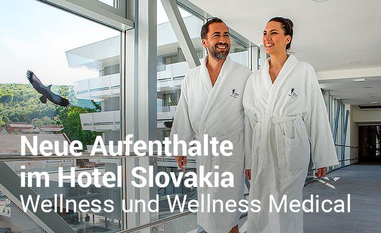 Neue Aufenthalte im Hotel Slovakia - Wellness und Wellness Medical