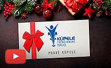 Vianočné darčekové poukážky do pravých kúpeľov