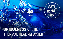 The uniqueness of healing thermal water